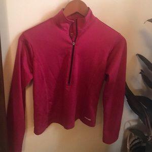Saucony brand active long sleeve half zip shirt